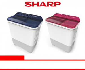 SHARP WASHING MACHINE SEMI AUTO 7 Kg (ES-T75NT-BL/PK)