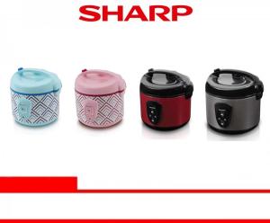 SHARP RICE COOKER (KS-N18MG-BL/PK/RD/LS)