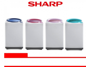 SHARP WASHING MACHINE TOP LOADING 8 Kg  (ES-M806P-GBK/GMK/GRK/GTK)