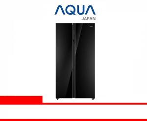 AQUA REFRIGERATOR SIDE BY SIDE (AQR-605IG (BK))