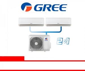 GREE AC COMBO SPLIT INVERTER 0.5 PK + 0.75 PK (0507CS)